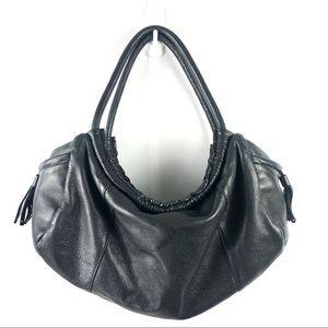 Osgoode Marley Black Leather Hobo Shoulder Bag